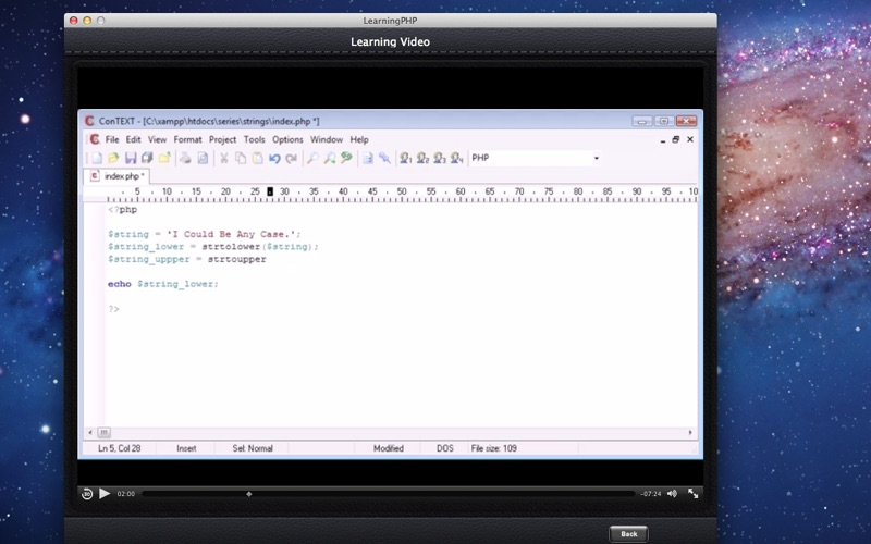 Learning PHP screenshot 2