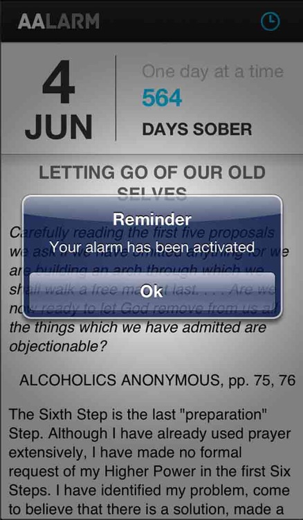 AALARM - Alcoholic Anonymous Alarm Clock and Daily Reflection screenshot-3