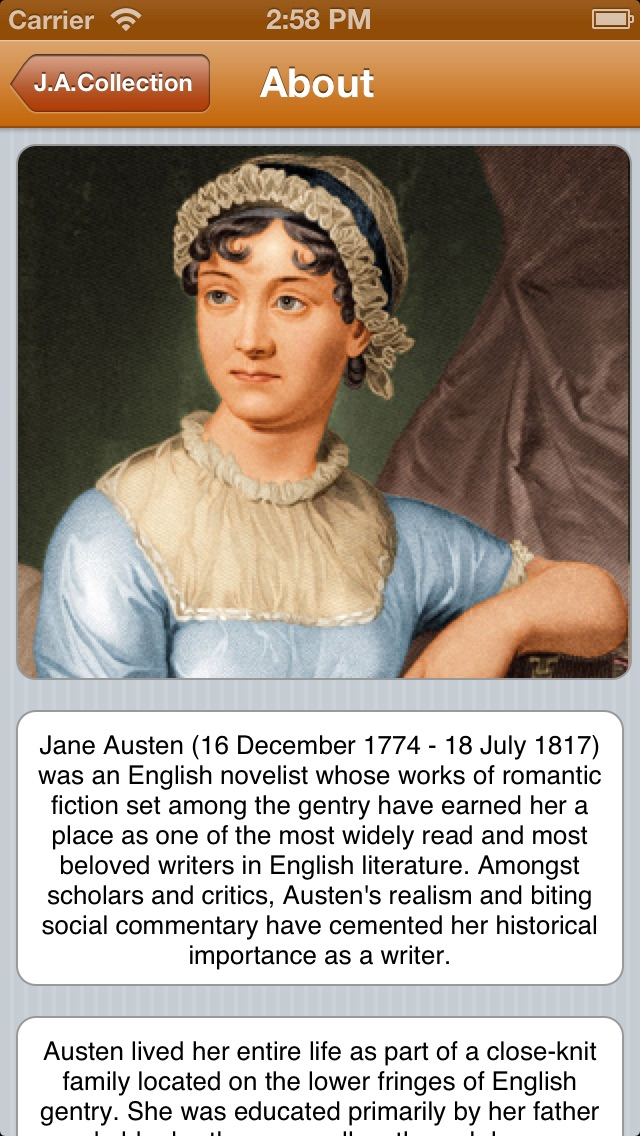 Small Jane Austen Collection (with search) Screenshot
