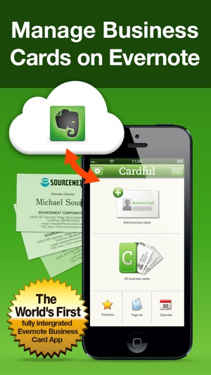 Cardful business card management on evernote on the app store iphone screenshots reheart