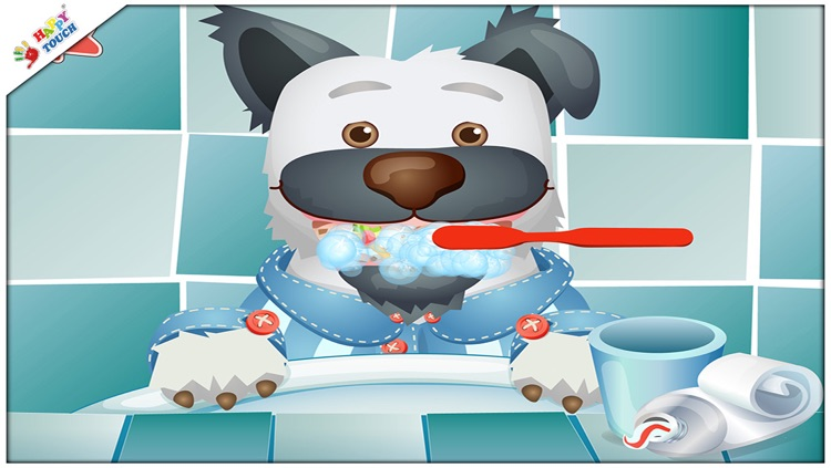 Brush your teeth with funny animals for kids and toddlers (by Happy Touch Apps) screenshot-3