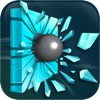 Gravity Glass Hit: Physics Shattering Marble Corridor Tunnel (Mysterious Sci-Fi Ball-Game)