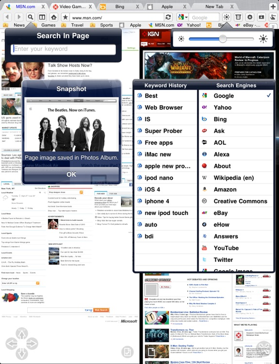 Super Prober Web Browser - Full Screen Desktop Tabbed Fast Browser with Page Thumbnails screenshot-3