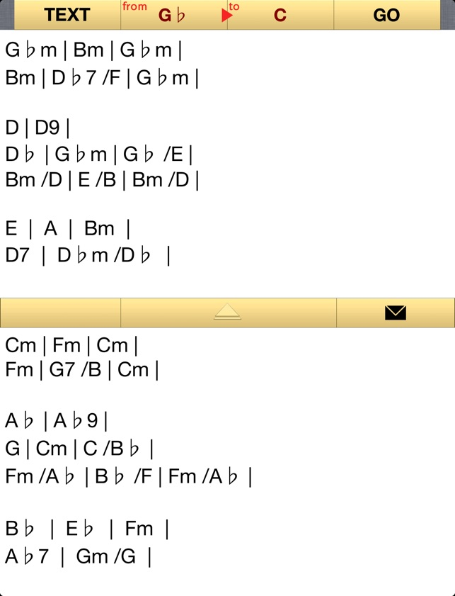 Trans Chord Music Guitar Chord Transposition Chord Editor On The