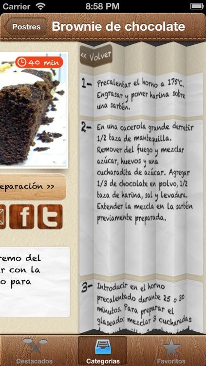 Recetas Cocina screenshot-4
