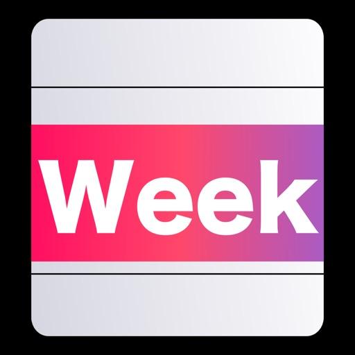 時間割スケジュール - Week Table Free /スケジュール帳(曜日別)/一日24時間計画予定表/シンプルで簡単な時間管理で毎日を充実させるタイムテーブル。手帳やカレンダーと併用も便利!