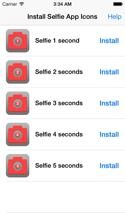 Selfie App Icon Automatic - Selfie Cam Shooter Auto launched via an app icon with timer & Photo Editor screenshot-3