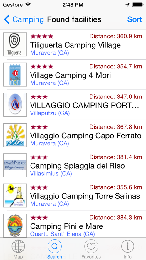 Camping Guide Italy & Europe 2014 i3F App 截图