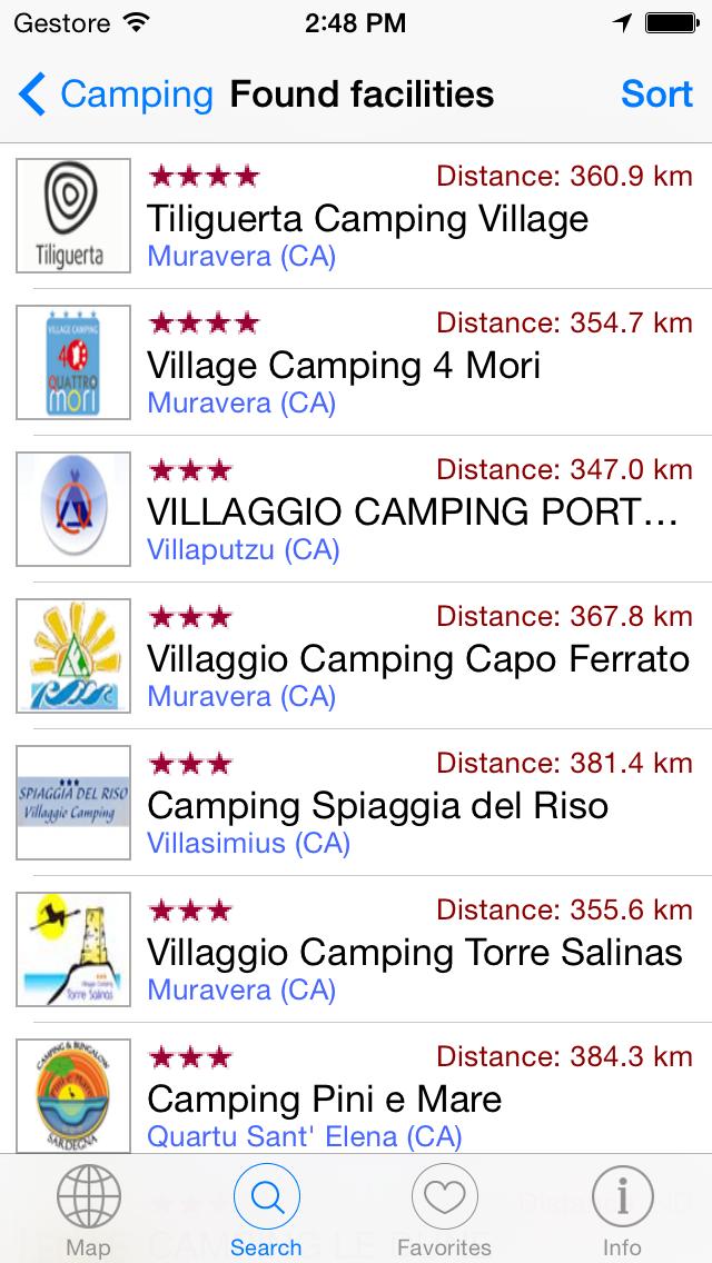Camping Guide Italy & Europe 2014 i3F screenshot three