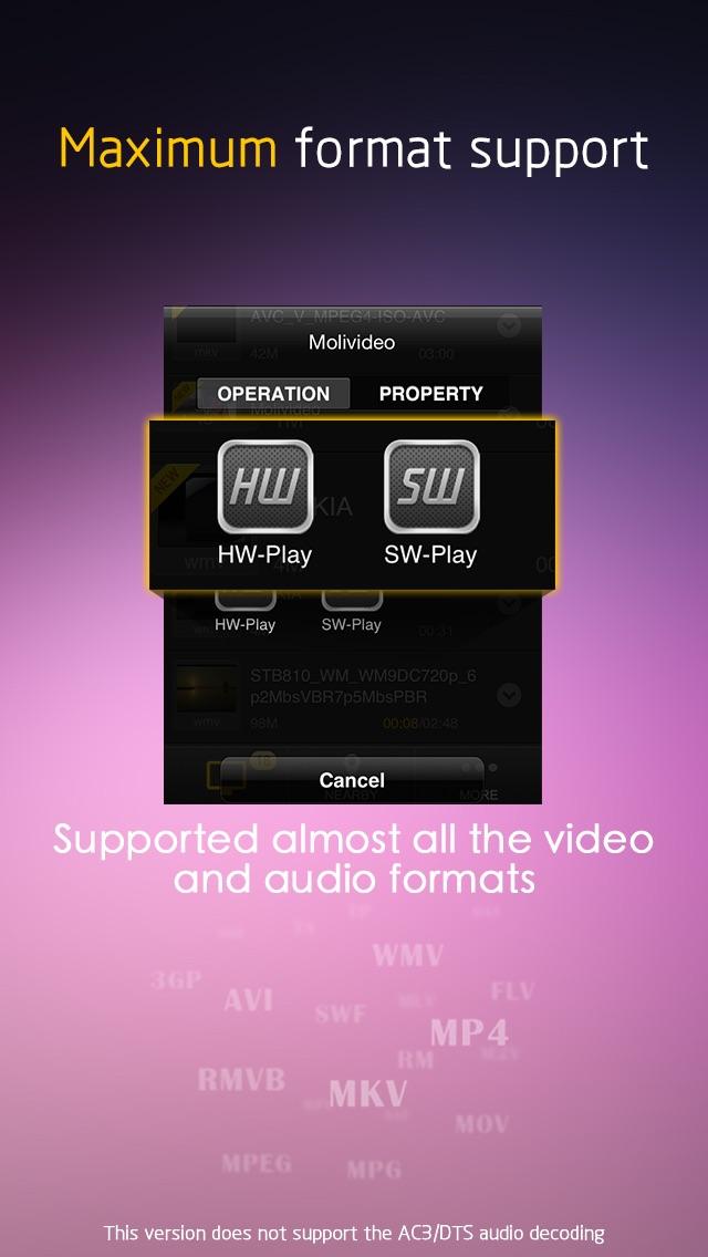 MoliPlayer Pro-video & music media player for iPhone/iPod with DLNA/Samba/MKV/AVI/RMVB Screenshot