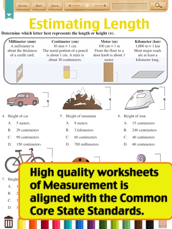 Kids Math-Metric Measurement Worksheets(Grade 4)