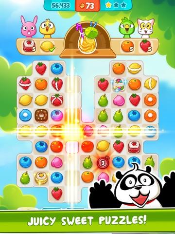 Panda Juice - matching 3 fruit puzzle adventureのおすすめ画像3