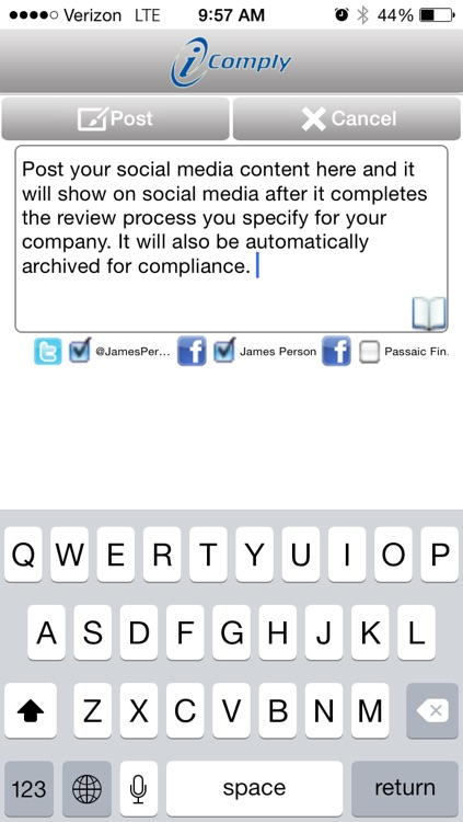 i-Comply Social Media Sharing, Protection, Compliance, Archiving and Workflow Approval