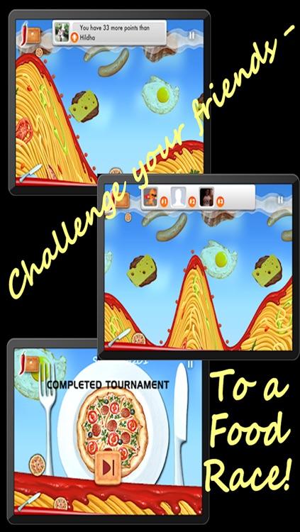 Spaghetti Mountain Race 2 - Crazy Fun Flying Food Race Game screenshot-3