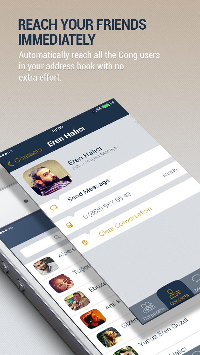 Gong Messenger screenshot two