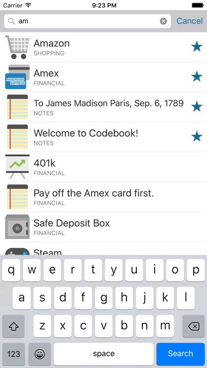 Codebook Lite - Password Manager screenshot-3