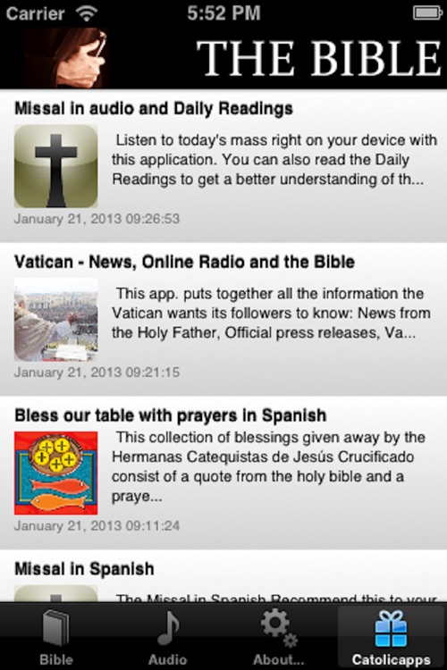 The Bible in one year - Catolicapp.org screenshot-3