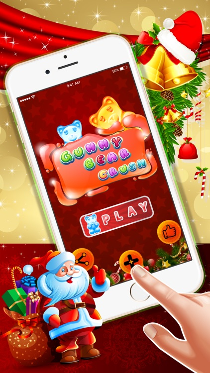 Gummy Bear Crush : - The free match3 puzzles game for Christmas Eve