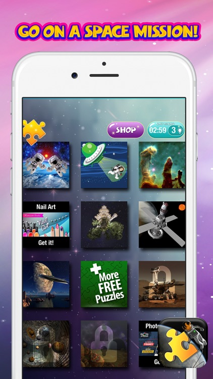 Space Jigsaw Puzzle Free – Science Game for Kids and Adults With Stars & Planets Pic.s screenshot-3