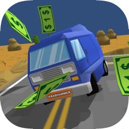 Pixel Van - Blocky Road Getaway