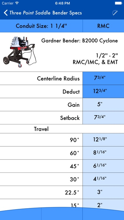QuickBend: Conduit Bending Calculator screenshot-3