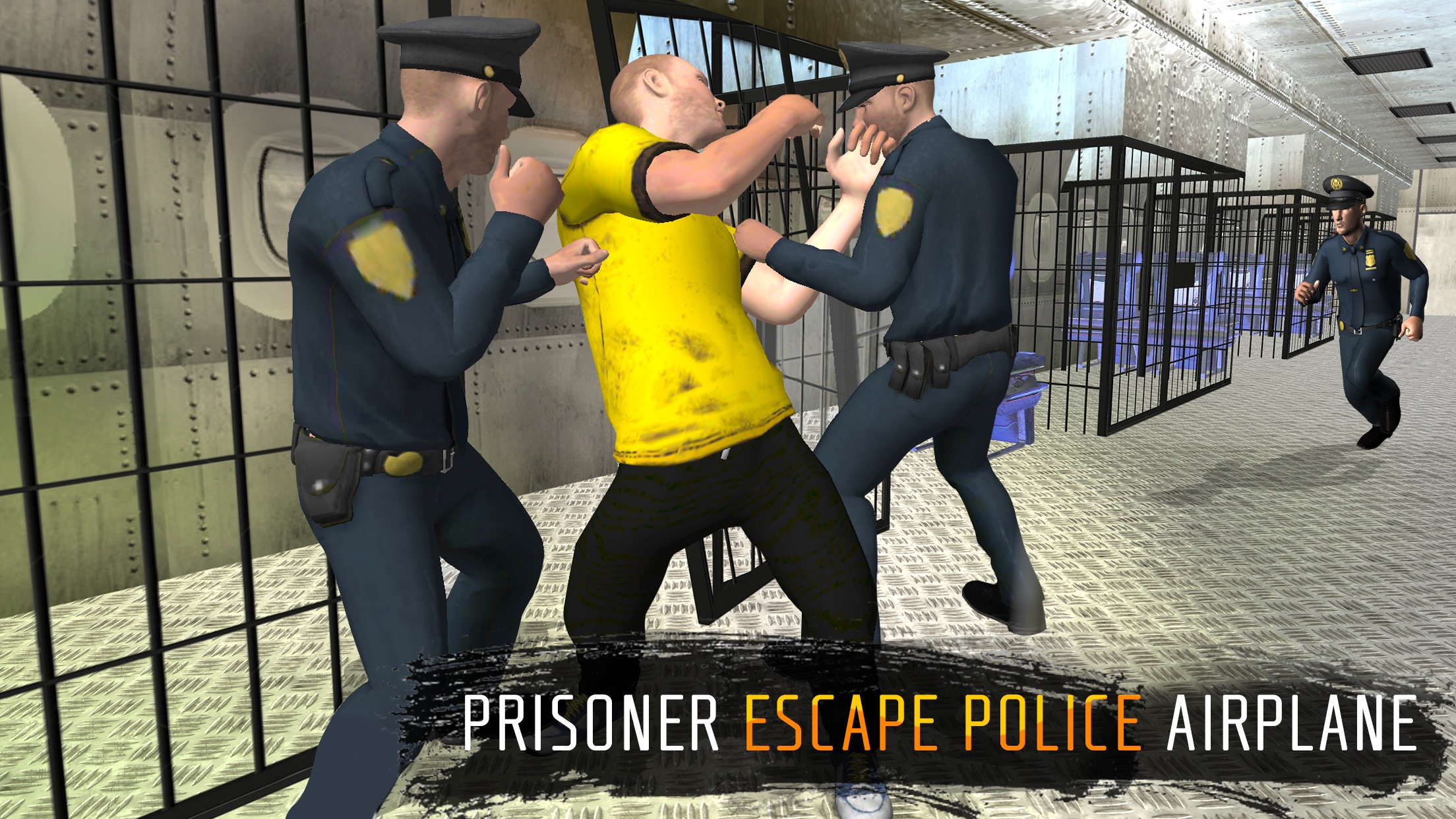 Prisoner Escape Police Airplane - Prison breakout mission in criminal transporter aircraft game Screenshot