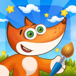 Tim the Fox - Paint - free preschool coloring game