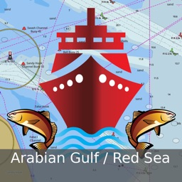 i-Boating:Persian/Arabian Gulf, Red Sea & Gulf of Aden- Marine/Nautical Charts & Navigation Maps
