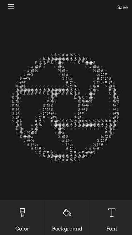 Image ASCII - turn images into ASCII symbol art