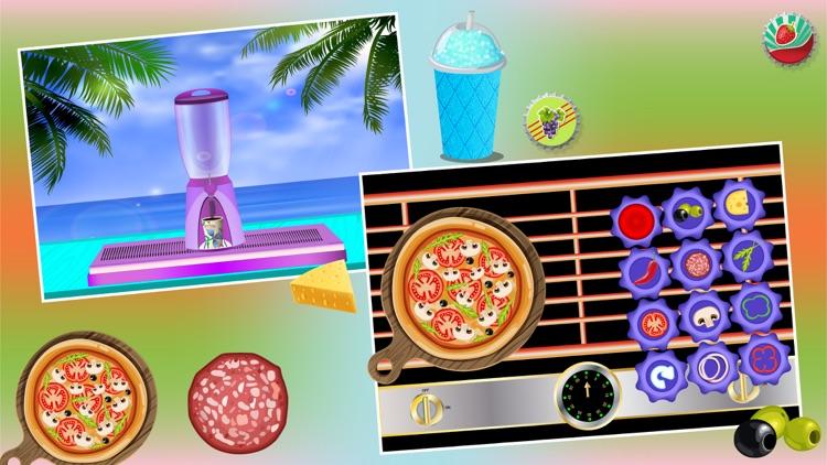 Slush and Pizza Maker – Free Crazy Italian Pizzeria Chef Restaurant & Kitchen cooking Games for Girls screenshot-3