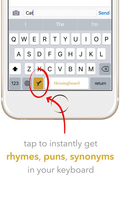 Hemingboard: Synonyms, Rhymes, Puns in Your Keyboard