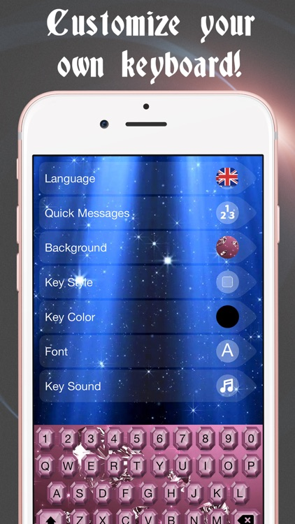 Diamond Keyboard Themes – Luxury Keyboards with New Emoji.s, Backgrounds and Fonts
