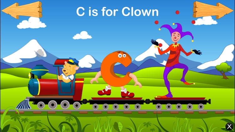 Alphabet Train For Kids - Learn ABCD screenshot-1
