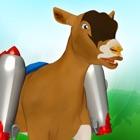 Jetpack capra salto: Furia folle di animale da fattoria nelle colline eseguire simulatore icon