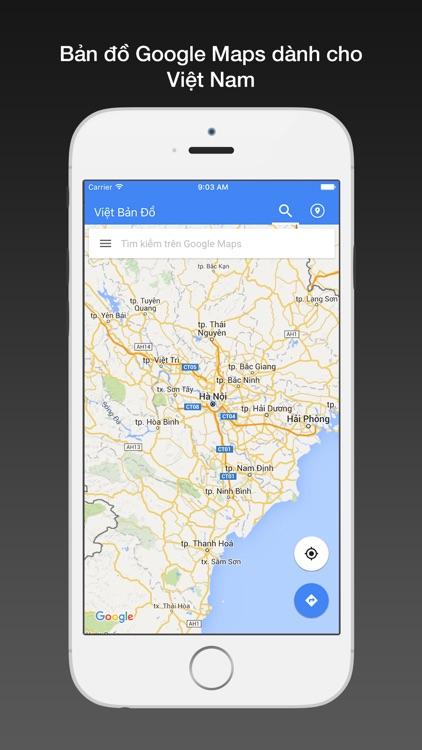 Việt bản đồ for Google Maps - Bản đồ Việt Nam,HN,TPHCM