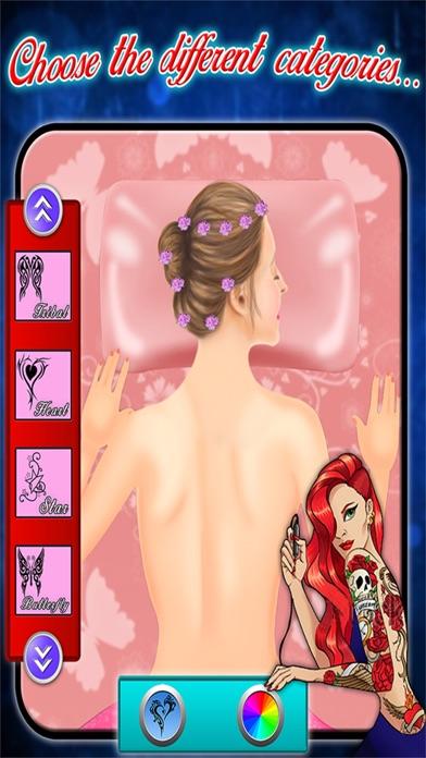 Back Tattoo Art Maker - Tattoo Art Game screenshot two
