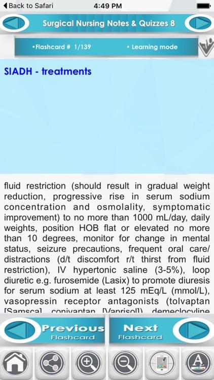 Surgical nursing 7200 Flashcards screenshot-3