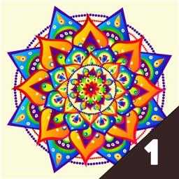 Color.ly Volume 1 - Adult coloring book (Animals, Basic, Celtic mosaic, Collage, Elephants, Floral, Geometric, Kids, Mandala, Oriental, Owls)