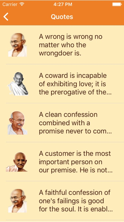 Mahatma Gandhi Quote - The best quote