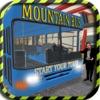 险山与客车驾驶模拟器座舱视图 - 道奇在一个危险的公路交通