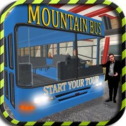 Dangerous Mountain & Passenger Bus Driving Simulator cockpit view - Dodge the traffic on a dangerous highway