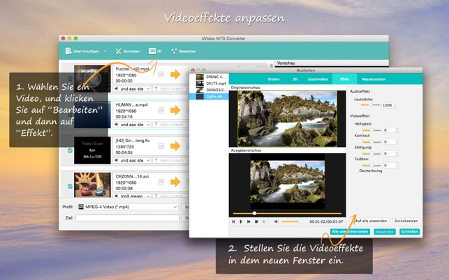 4Video MTS Converter Screenshot