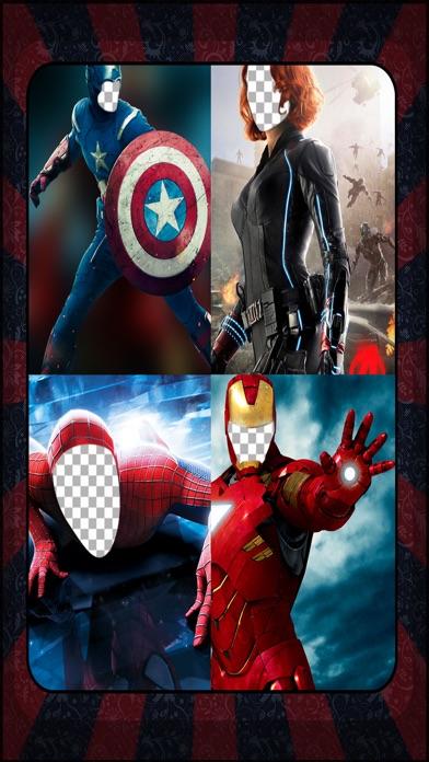 SuperHero Face - Make SuperHero Photo Prank Place Your Face On Various Superheroes Body Screenshot on iOS