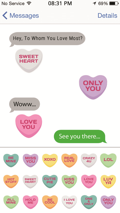 Candy Emojis - Love Hearts Edition
