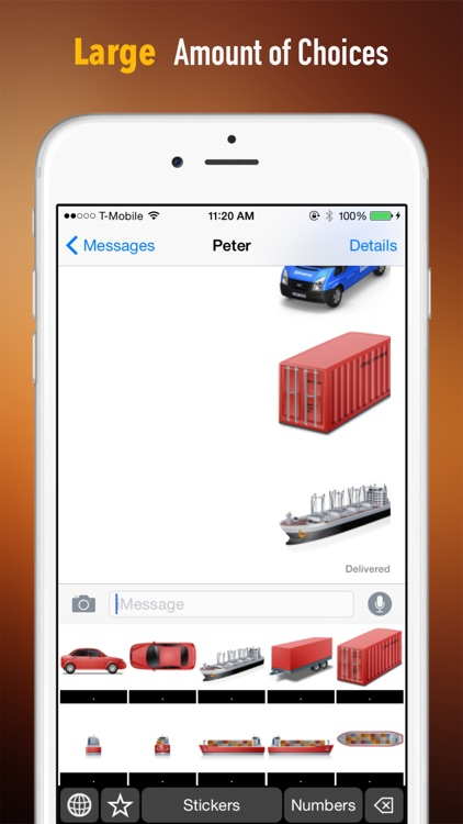 Logistics Theme Stickers Keyboard: Using Supply Chain Icons to Chat