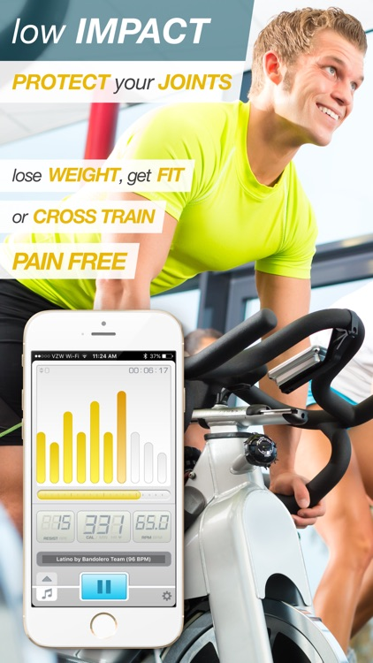 BeatBurn Indoor Cycling Trainer - Low Impact Cross Training for Runners and Weight Loss