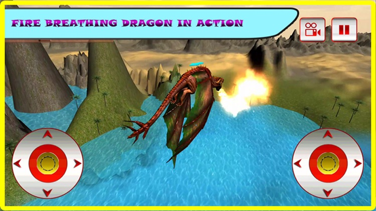 Flying Fire Dragon Flight Simulator 2016 – Train your blaze drake to fight jurassic war village screenshot-0