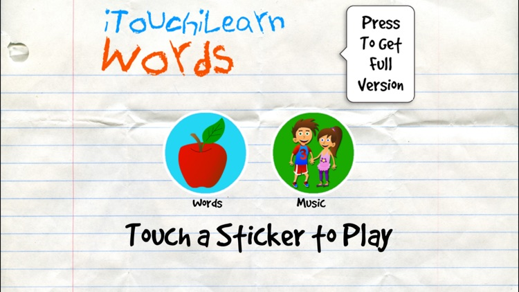 iTouchilearn Words Free for Preschool Reading, Spelling, Speech Skills