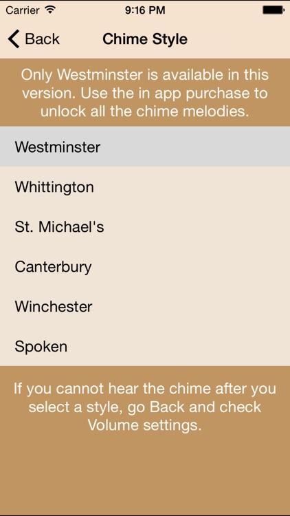 Westminster Chimes Lite screenshot-3
