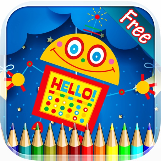 Robot Coloring Book - Drawing and Painting Colorful for kids games free iOS App